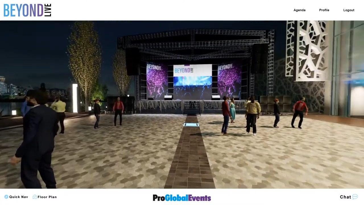 proglobalevents beyondlive virtual events demo main stage