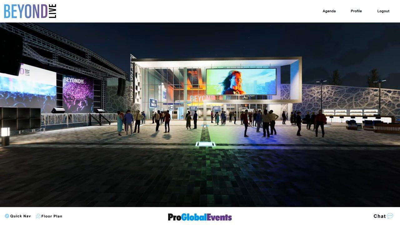 proglobalevents beyondlive virtual events demo exterior