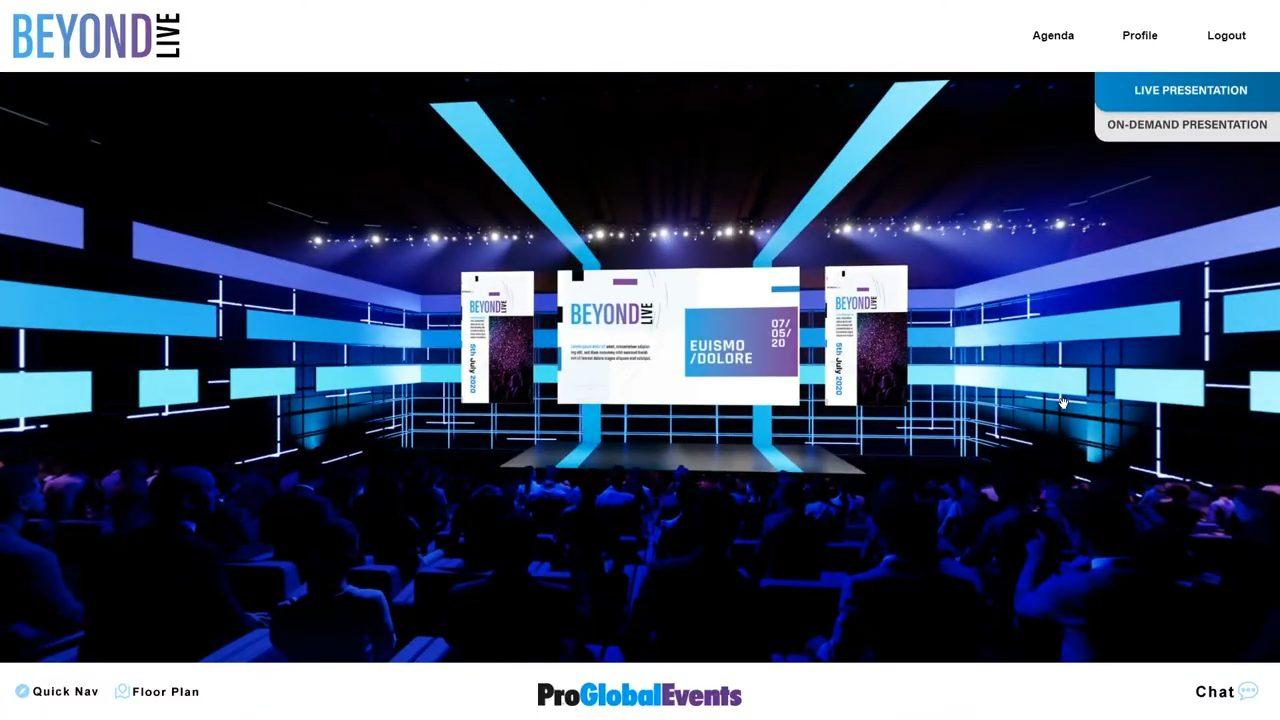 proglobalevents beyondlive virtual events demo presentation