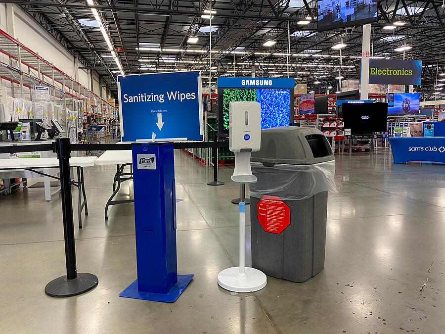 sanitation station at event