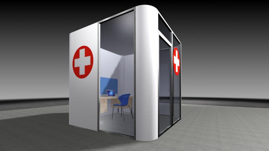 proexhibits rendering of isolation room